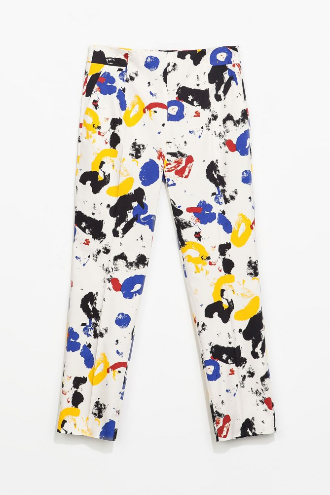 Pantalon Zara imprimé arty - 49,95 €