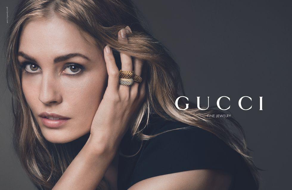 Nadja Bender prend la pose pour Gucci Joaillerie