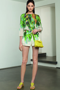 Tenue Longchamp imprimé tropical