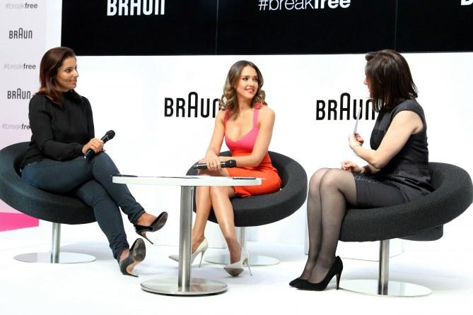 Jessica à Berlin pour Braun