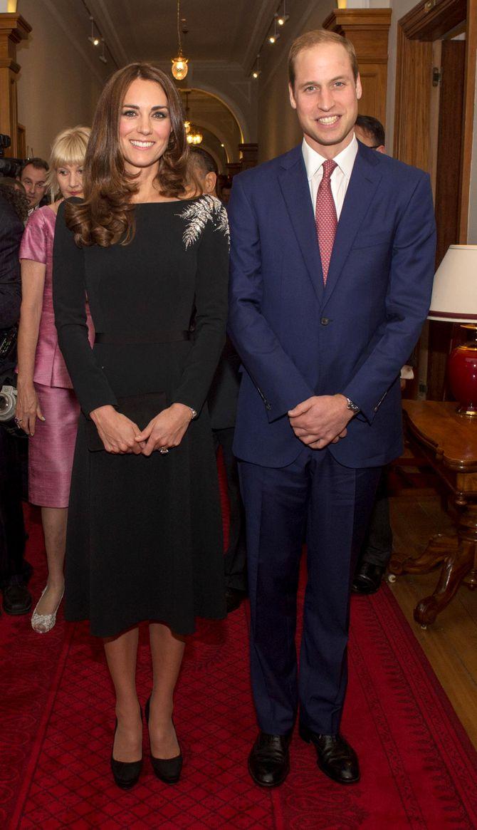 Kate Middleton et le prince William le 10 avril 2014