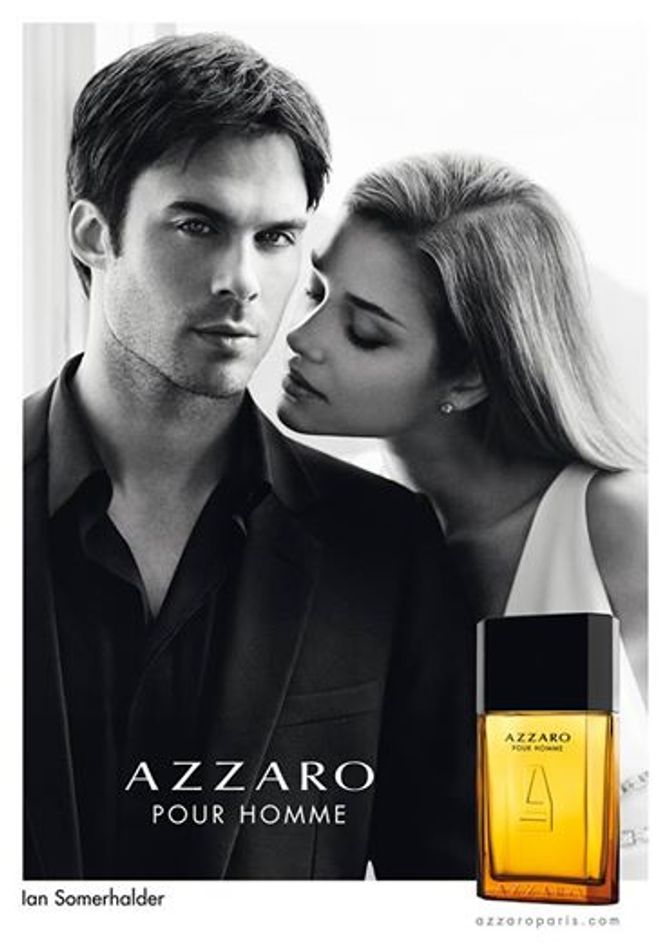 Ian Somerhalder et Ana Beatriz Barros pour la pub du parfum Azzaro pour Homme