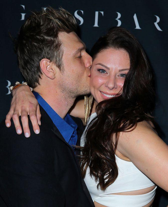 Nick Carter insieme alla moglie Lauren Kitt
