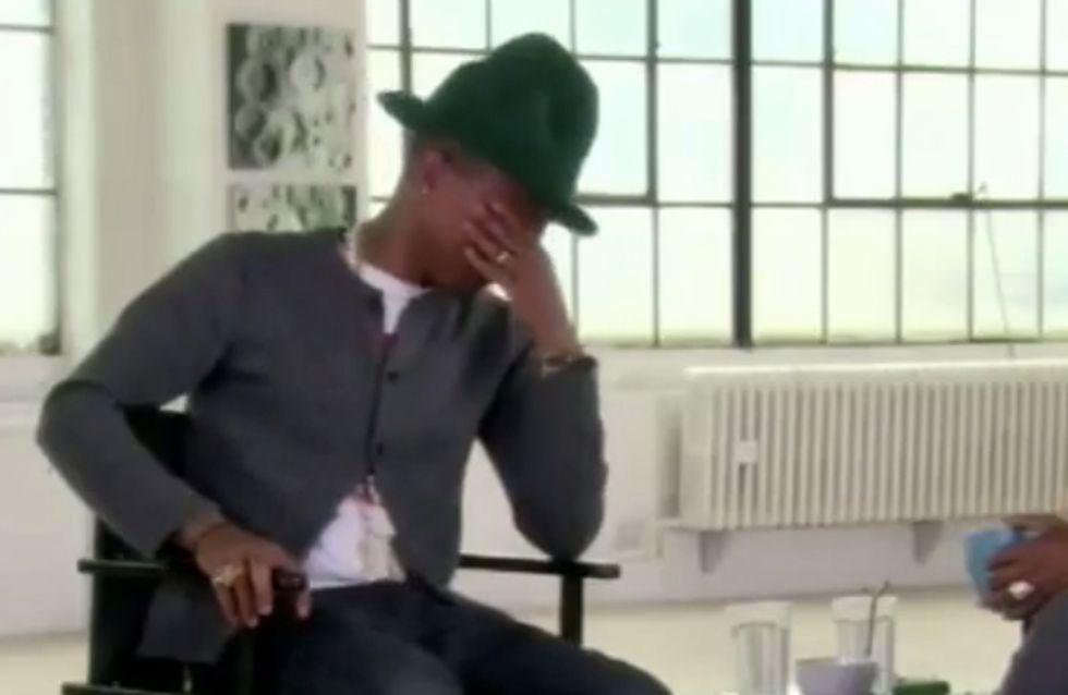 Pharrell Williams : Il pleure sur le plateau d'Oprah Winfrey (Vidéo)