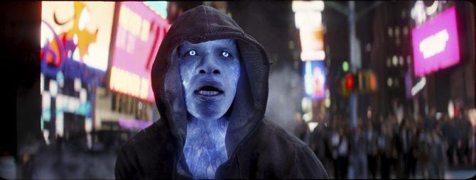 Jamie Foxx als 'Electro' in 'The Spiderman Spiderman 2'