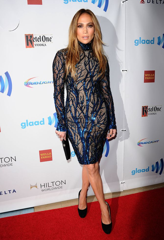 Jennifer Lopez aux GLAAD Awards