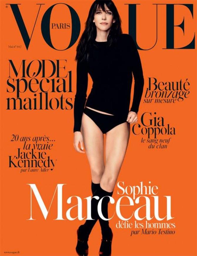 Sophie Marceau en Une de Vogue