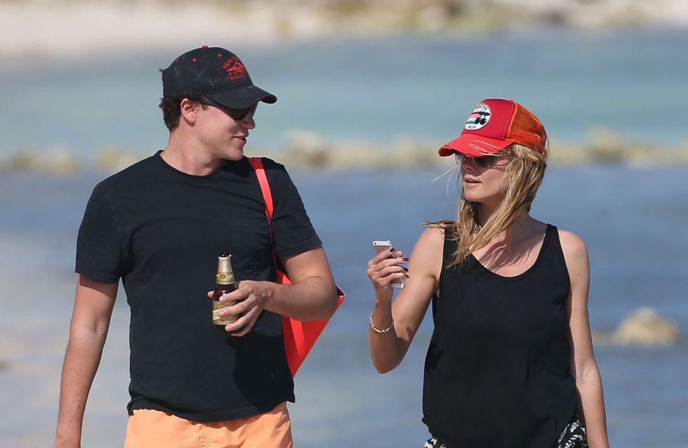 Heidi Klum: le foto in topless insieme all'ex di Demi Moore
