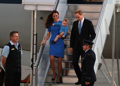 Kate, William et George en voyage officiel