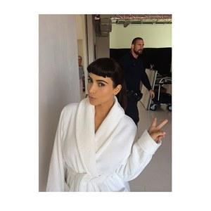 Kim Kardashian et sa nouvelle frange