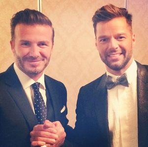 Ricky Martin y David Beckham