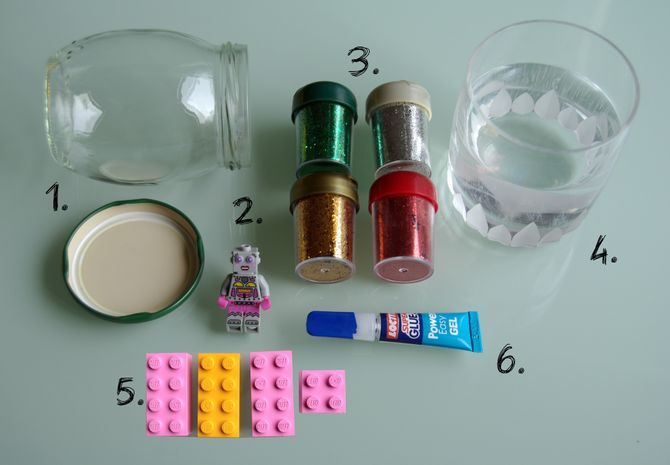 Matériel - Tuto LEGO la boule à paillettes