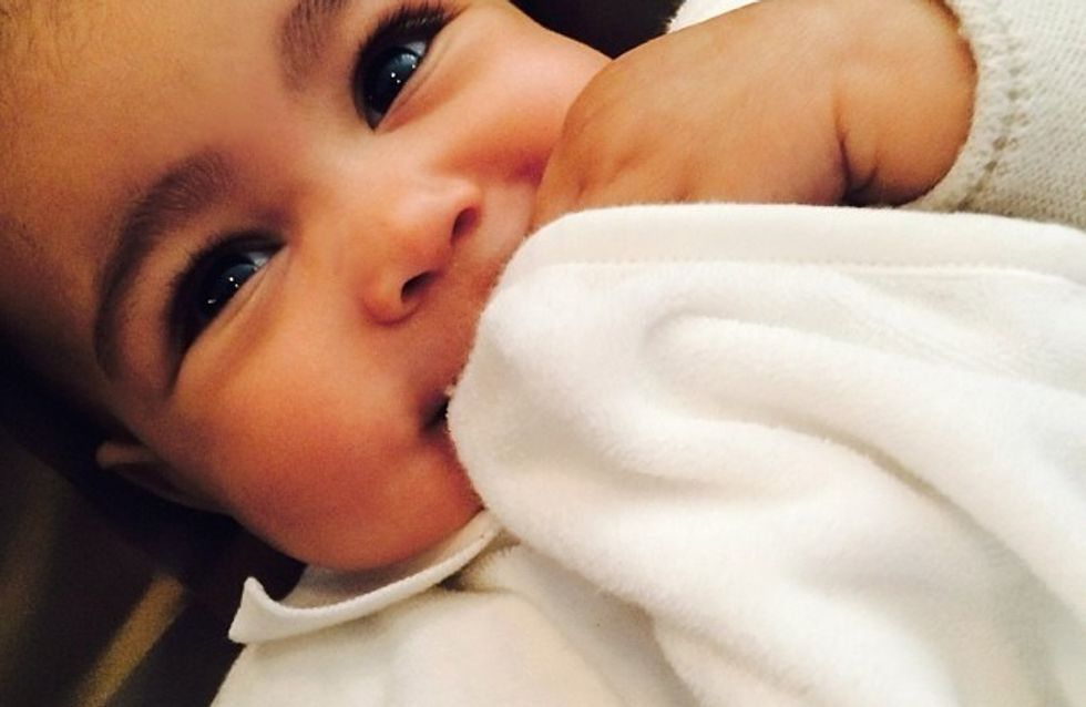 Kim Kardashian : Elle a sa petite North dans la peau (photo)