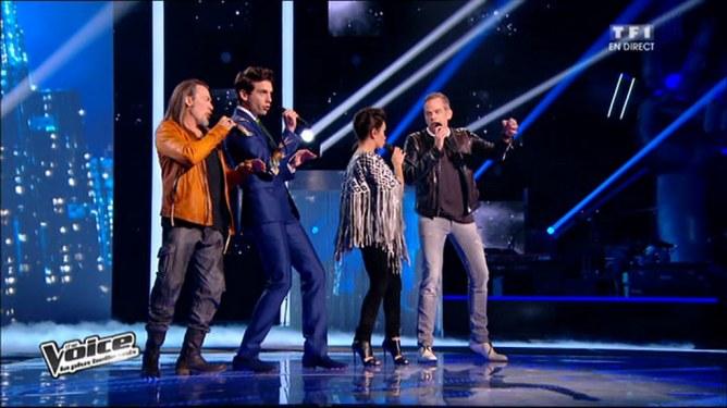 Les 4 membres du jury de The Voice