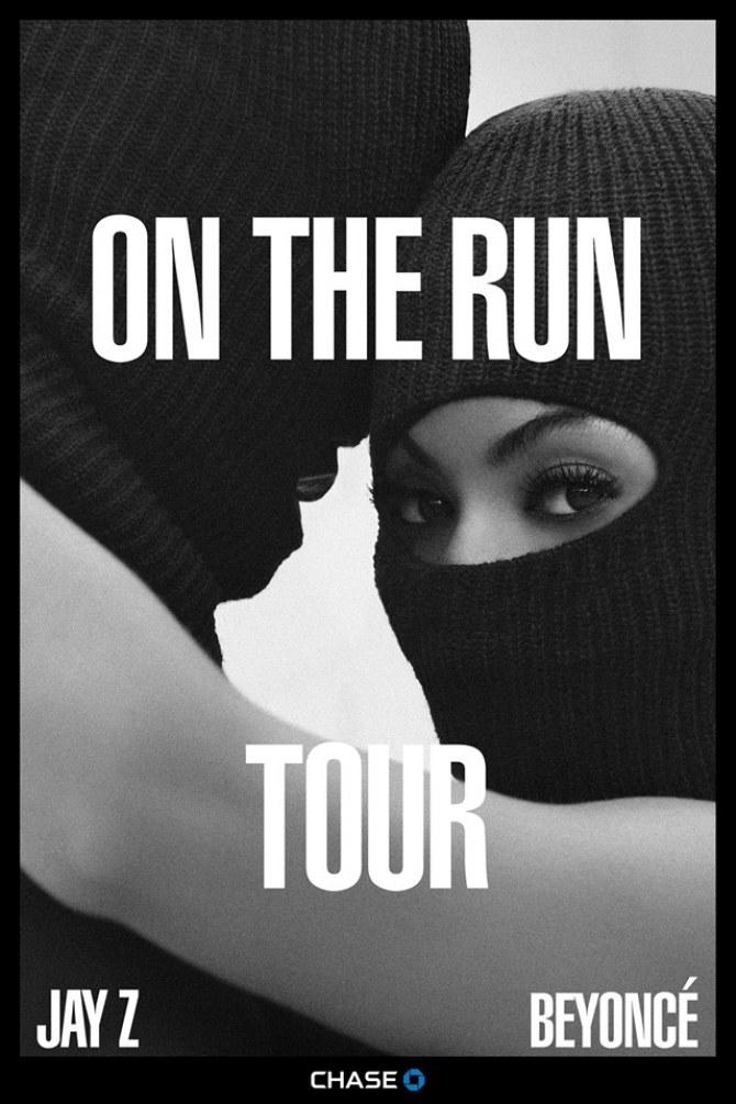 L'affiche officielle de la tournée de Beyoncé et Jay-Z