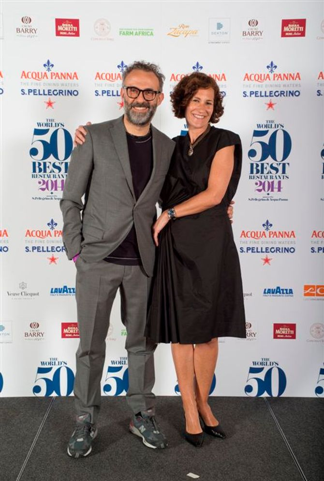 Massimo Bottura e Lara Gilmore, The World's 50 Best Restaurant 2014