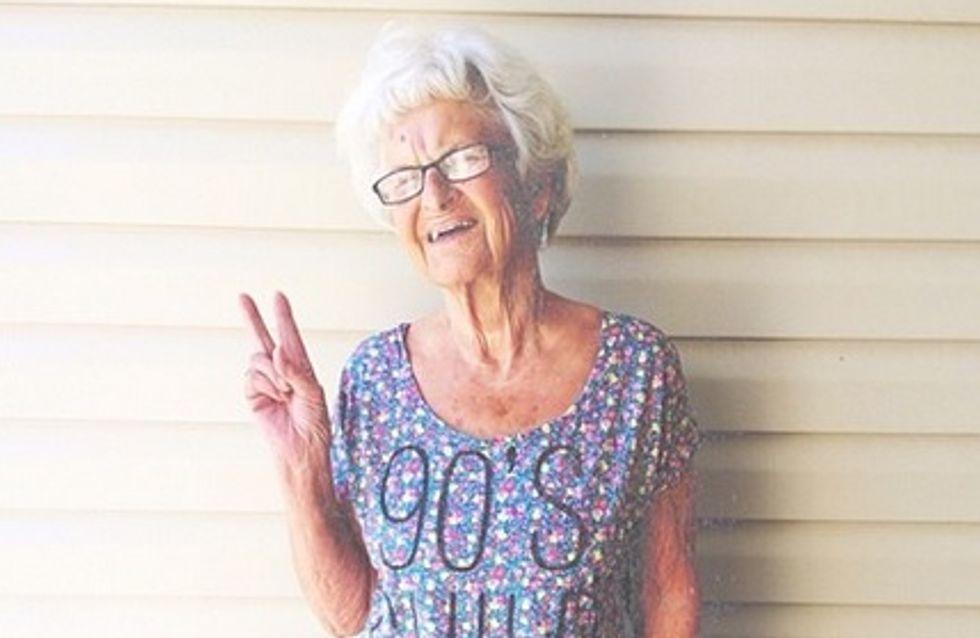 À 86 ans, elle est accro aux réseaux sociaux ! (Photos)