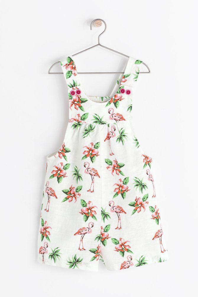 Combinaison Zara imprimé flamant rose - 25,95 €