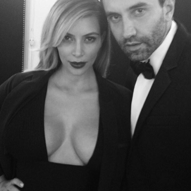 Kim Kardashian et Ricardo Tisci
