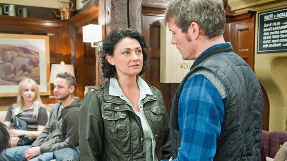 Emmerdale 13/05 – Cain and Charity meet up for the weddings