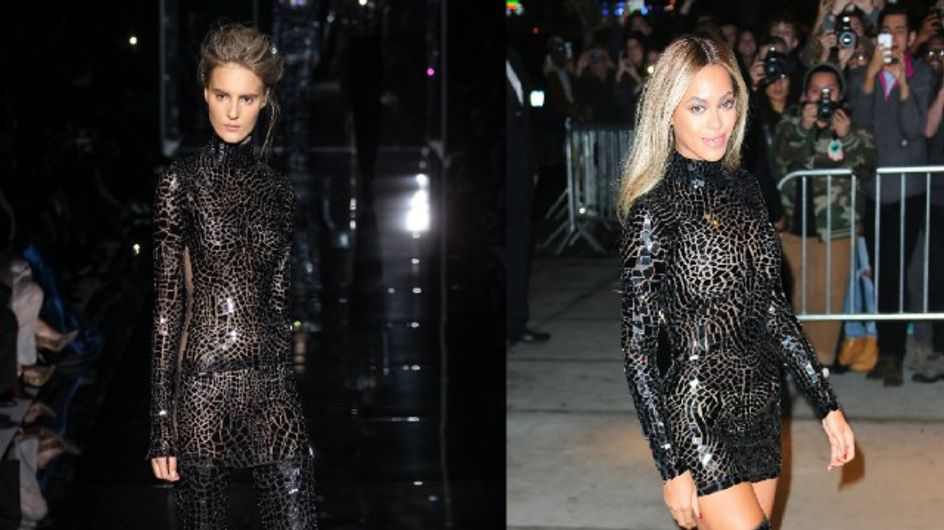 Beyoncé : Du podium au tapis rouge en Tom Ford (Photos)