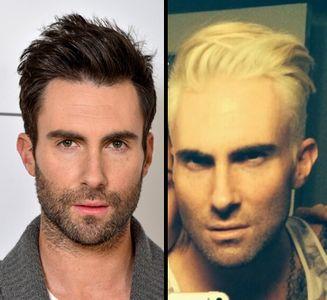 Adam Levine plus sexy en brun ou en blond ?