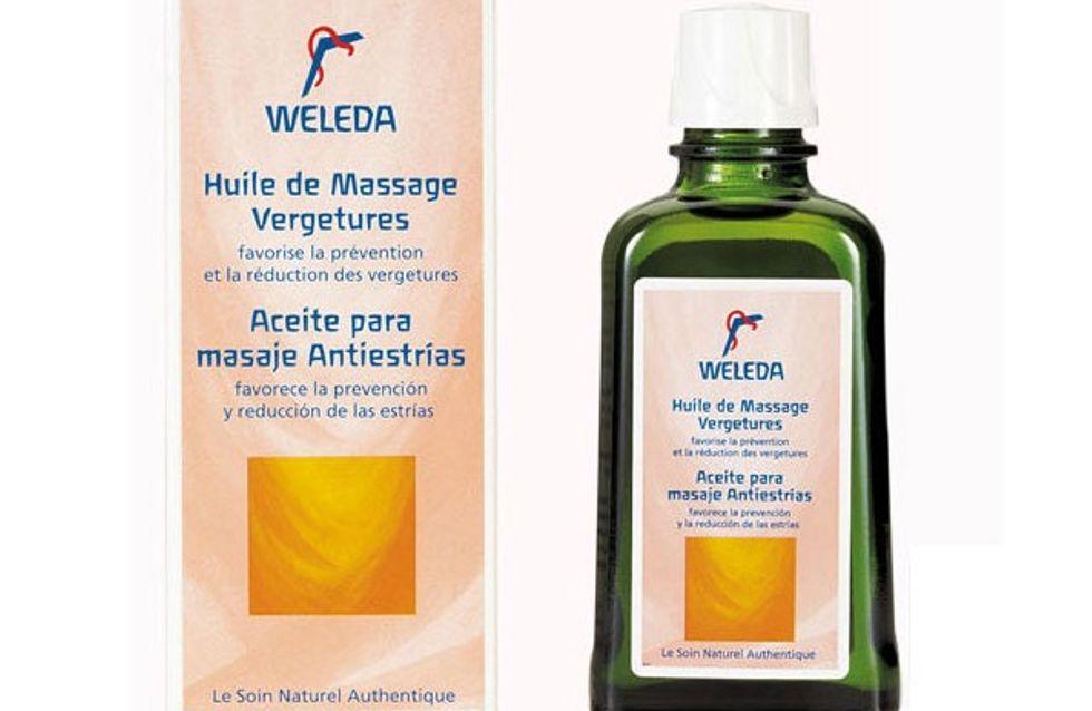 Grossesse et vergetures : on a testé l'huile de massage Weleda