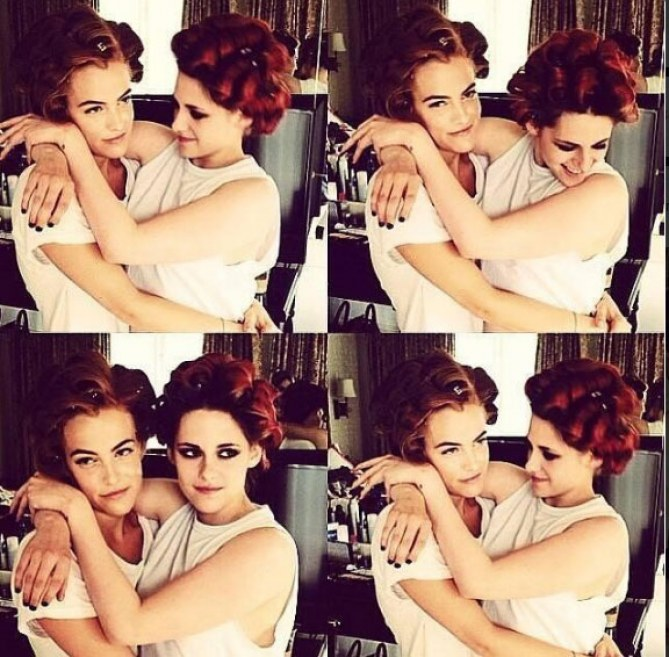 Kristen Stewart y  Riley Keough