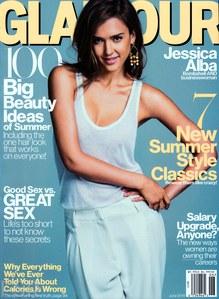 Jessica Alba pour Glamour US