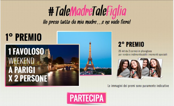 Concorso #TaleMadreaTaelFiglia L'Oréal Paris