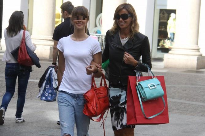 Cristina insieme alla figlia Benedetta