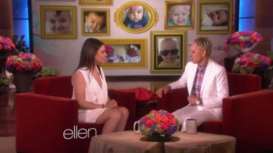 Mila Kunis chez Ellen DeGeneres