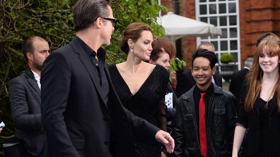 Angelina Jolie et Brad Pitt embarquent leur fils sur le tapis rouge (Photos)