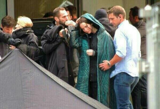 Jennifer Lawrence en tournage à Ivry