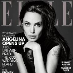 Angelina Jolie : Envoûtante en Saint Laurent pour la couverture du ELLE US