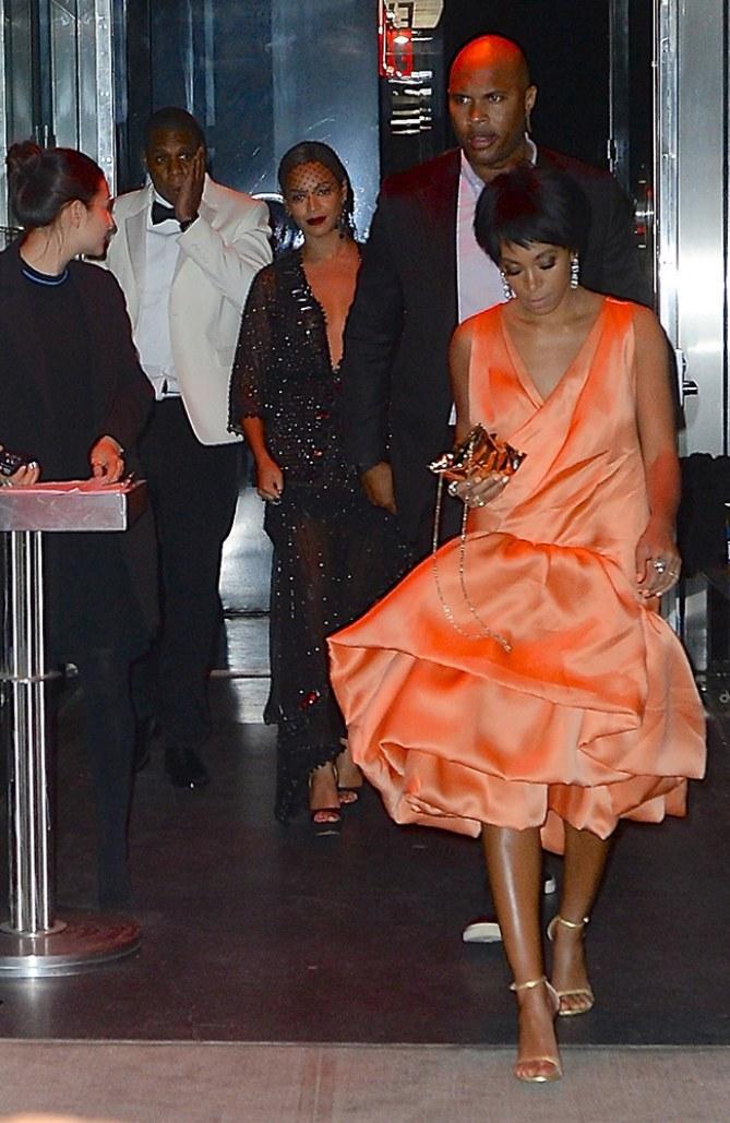 Solange Knowles mit Beyoncé und Jay-Z