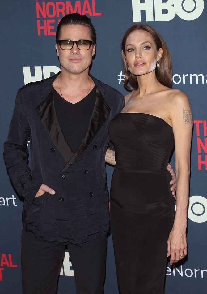 Angelina Jolie et Brad Pitt le 12 mai 2014 à New York