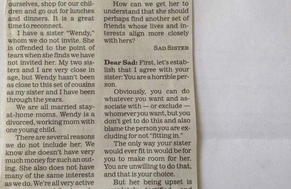 Diese Frau will ihre Schwester aus ihrem Leben streichen. Mit dieser Reaktion hat sie wohl nicht gerechnet. Großartig!