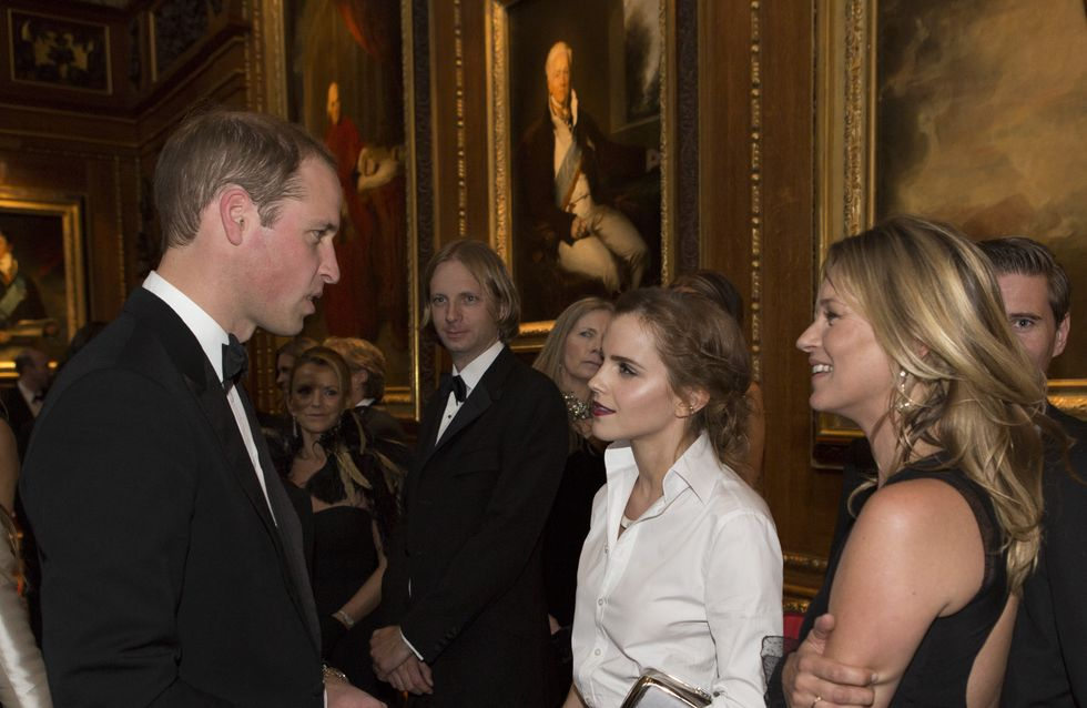 Prince William : Une soirée en compagnie de Kate Moss et Emma Watson (Photo)