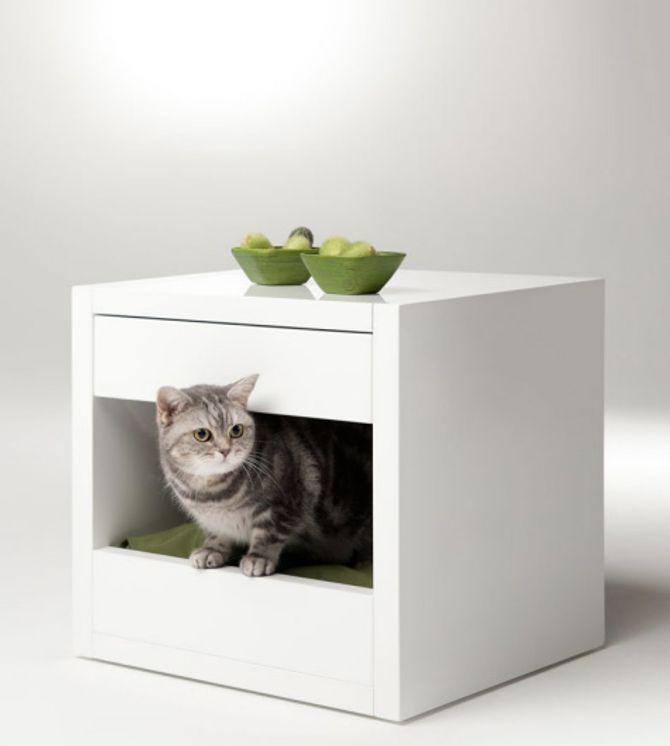 Bloq: il tavolino/comodino cuccia per gatti e cani