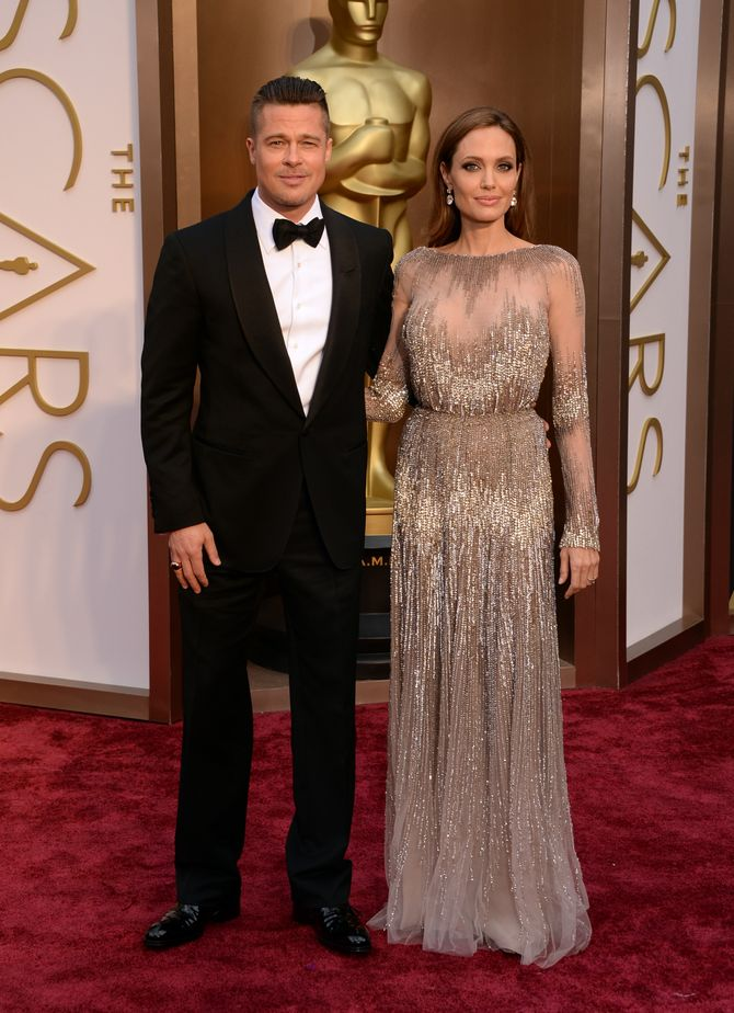 Angelina Jolie et Brad Pitt aux Oscars 2014
