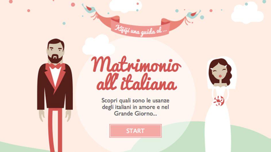Matrimonio all'italiana? L'infografica che racconta usi e tradizioni