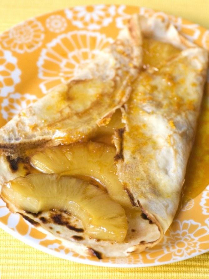 Crêpe ananas