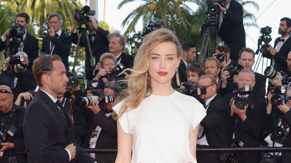 Amber Heard : Rayonnante pour ses premiers pas à Cannes sans Johnny Depp (Photos)