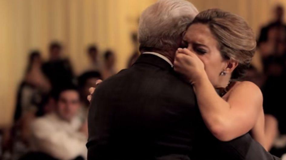 In Gedanken ist Papa dabei: Dieser Hochzeitstanz bricht uns das Herz