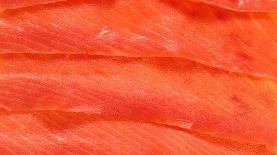 El salmón ahumado