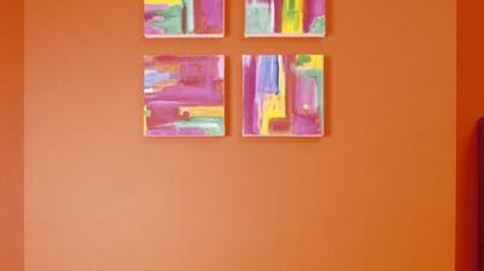 El color naranja en decoración