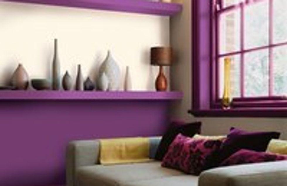 El violeta en decoración