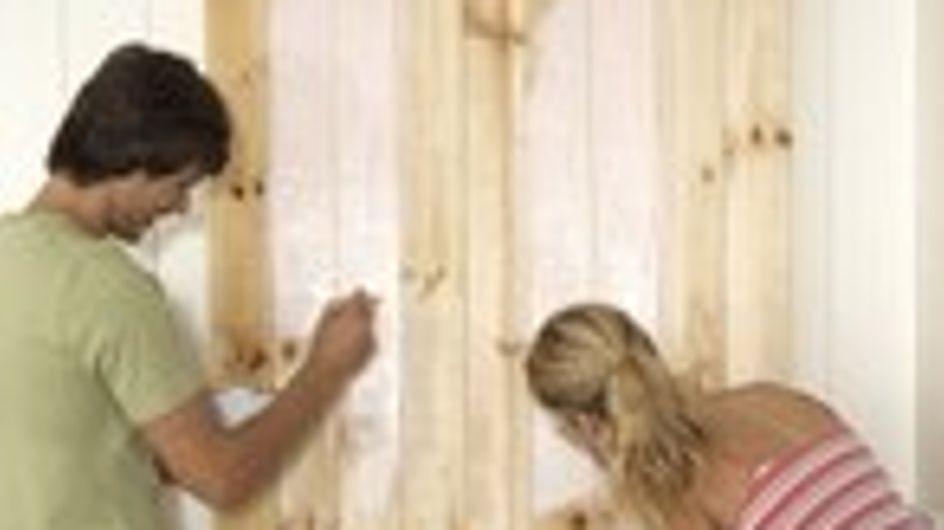 Cómo colocar láminas de madera