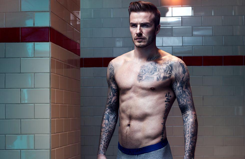 David Beckham findet es peinlich, sich halbnackt auf Plakten zu sehen